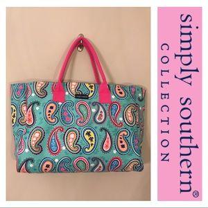 Simply Southern Nauti Paisley Print Weekend Bag
